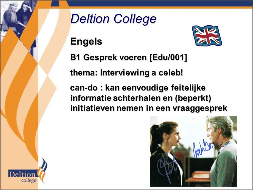 Deltion College Engels B1 Gesprek voeren [Edu/001]